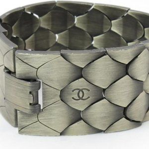 Chanel 98a Python Scale Metal Link Chain Mesh